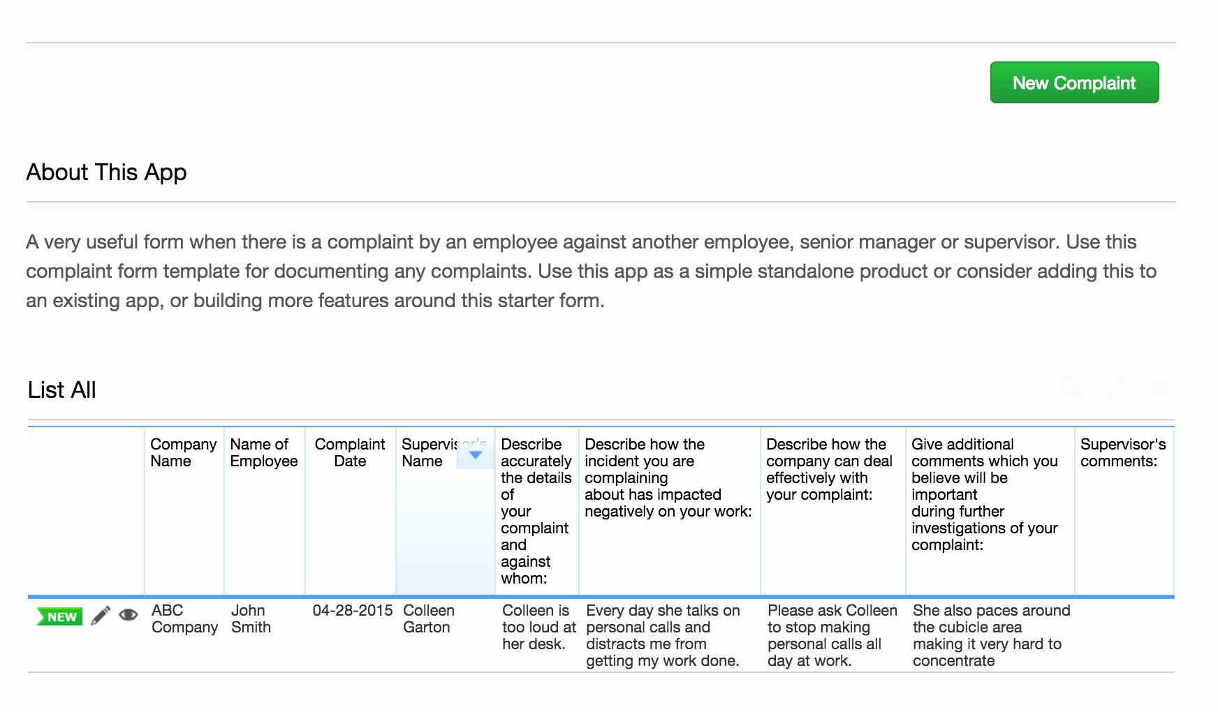 Employee Complaint form Template Best Of Employee Plaint form