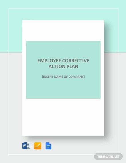 Employee Corrective Action Plan Template Luxury Corrective Action Plan Template 22 Free Word Excel
