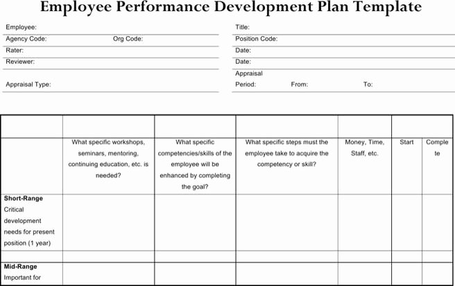 Employee Development Plan Template Beautiful 6 Sample Performance Development Plan Templates to