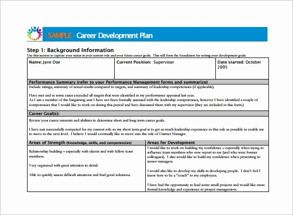 Employee Development Plan Template Beautiful Career Development Plan Template 11 Free Word Pdf