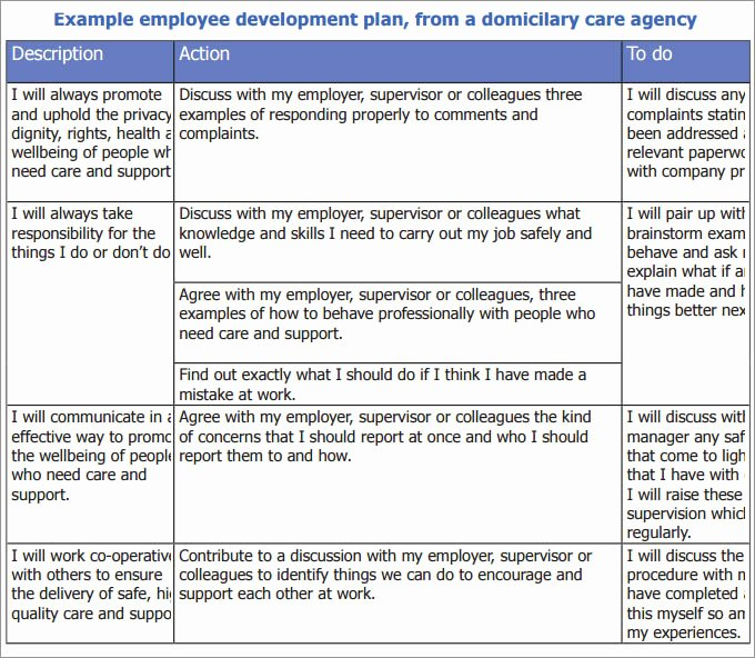 Employee Development Plan Template Luxury Employee Development Plan Template