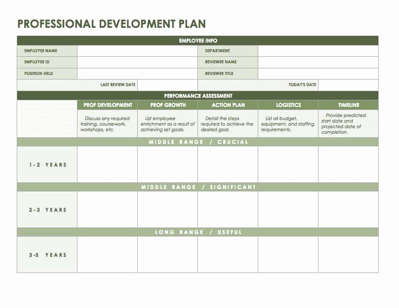 Employee Development Plan Template New Free Microsoft Fice Templates Smartsheet