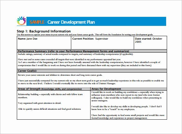 Employee Development Plan Template Unique 12 Career Development Plan Examples Pdf Word
