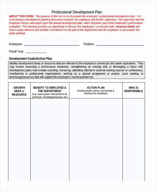 Employee Development Plan Template Unique 27 Development Plan Templates Pdf Word