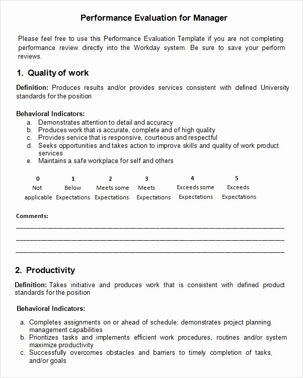 Employee Evaluation form Template Best Of Free 9 Sample Performance Evaluation Templates In Pdf