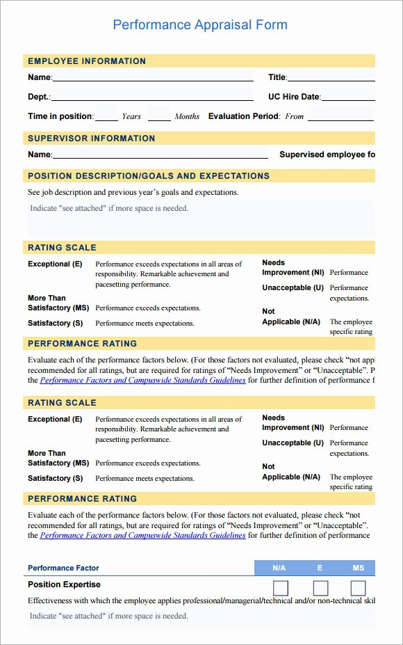 Employee Evaluation form Template Luxury Employee Evaluation form Sample – 13 Free Examples format