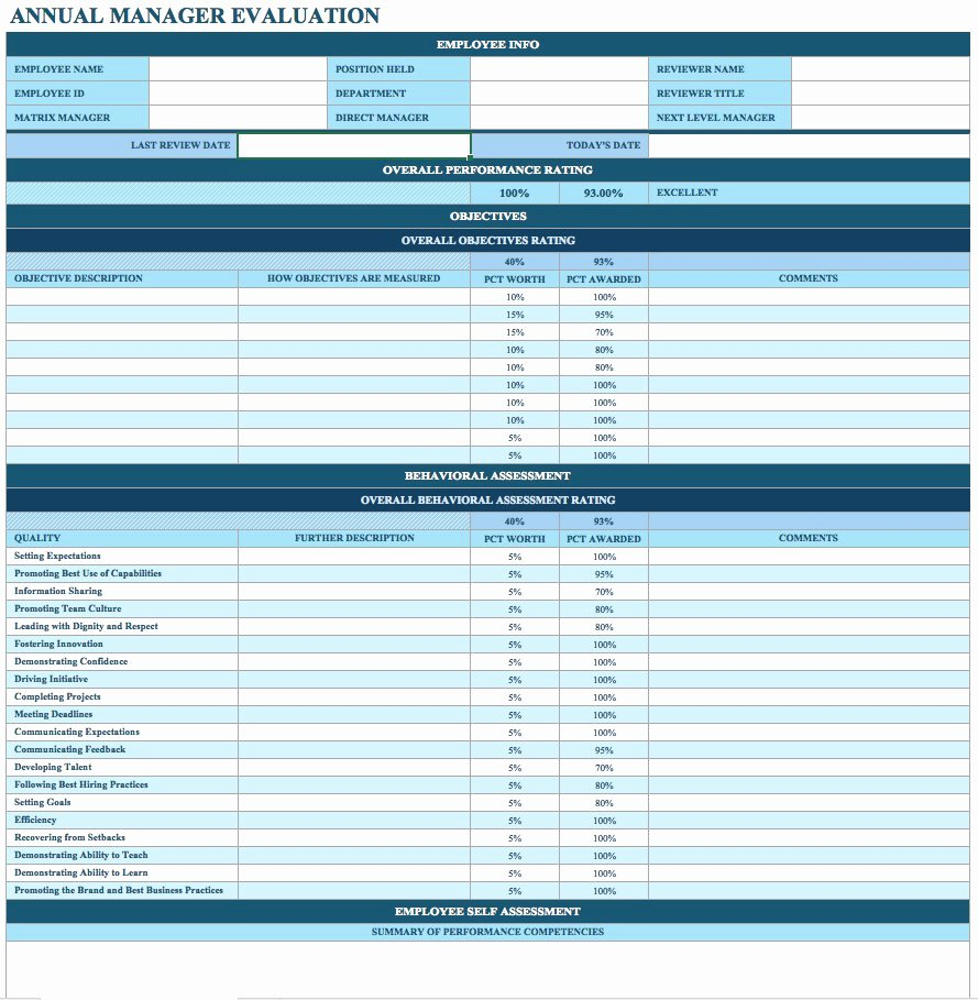 Employee Evaluation form Templates Fresh 50 Annual Performance Appraisal form Samples [free Download]