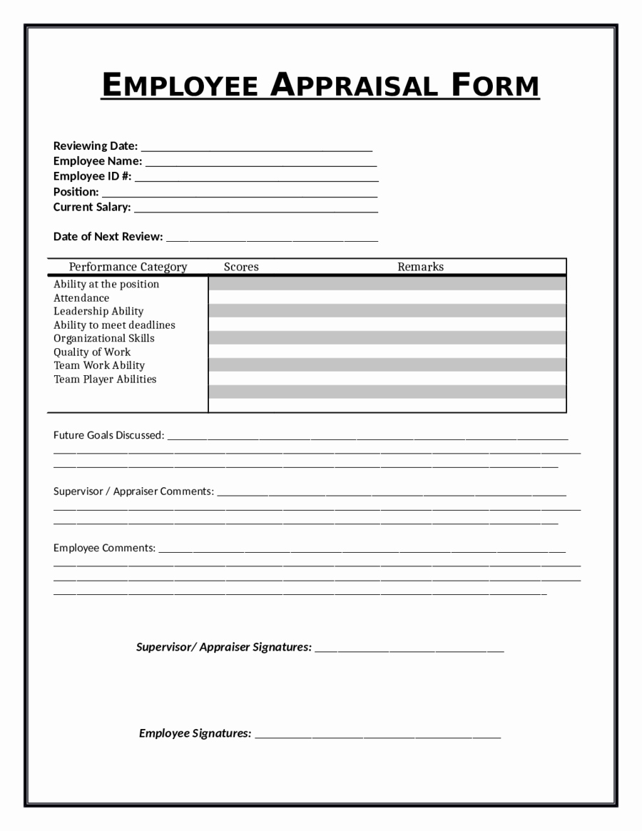 Employee Evaluation form Templates Inspirational 2019 Employee Evaluation form Fillable Printable Pdf