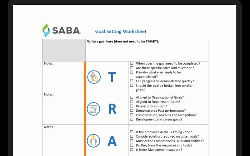 Employee Goal Setting Template Elegant Employee Goal Setting Template
