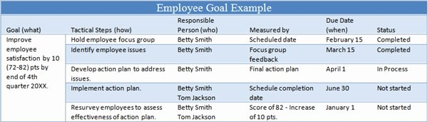 Employee Goal Setting Template Lovely 6 Tips for Managing Employee Goals – the Thriving Small
