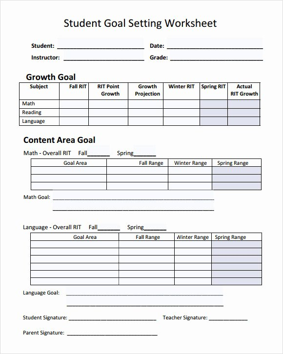 Employee Goal Setting Template Luxury Goal Setting Template 12 Download Free Documents In Pdf