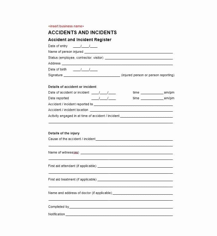 Employee Incident Report Template Elegant 60 Incident Report Template [employee Police Generic