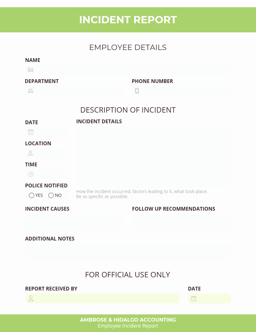 Employee Incident Report Template Fresh How to Write An Effective Incident Report [examples