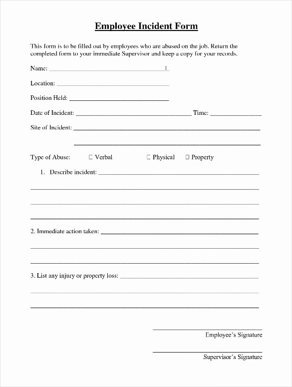 Employee Incident Report Template Lovely Employee Incident Report Template 10 Free Pdf Word