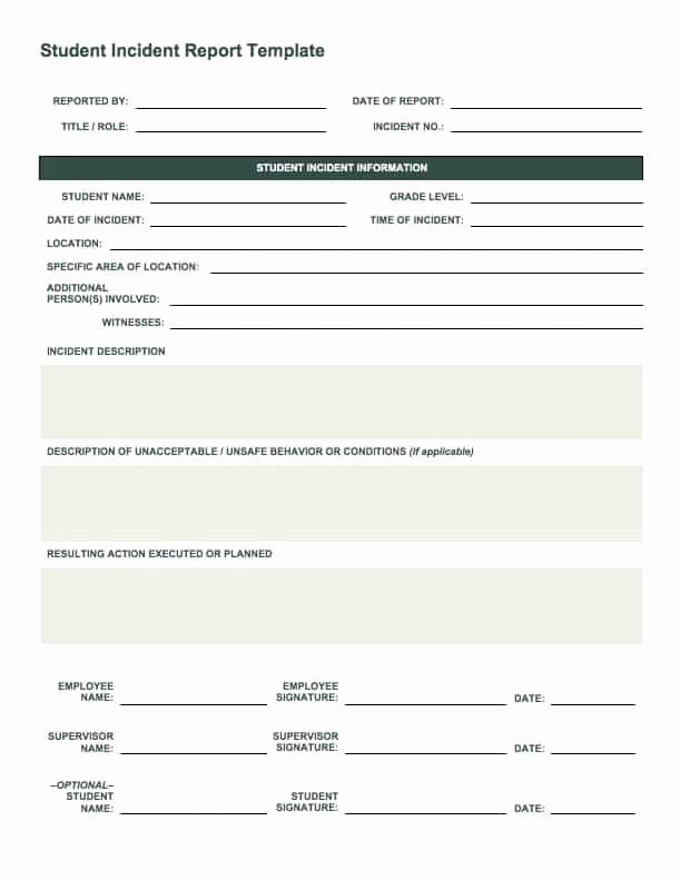 Employee Incident Report Template Lovely Free Incident Report Templates Smartsheet