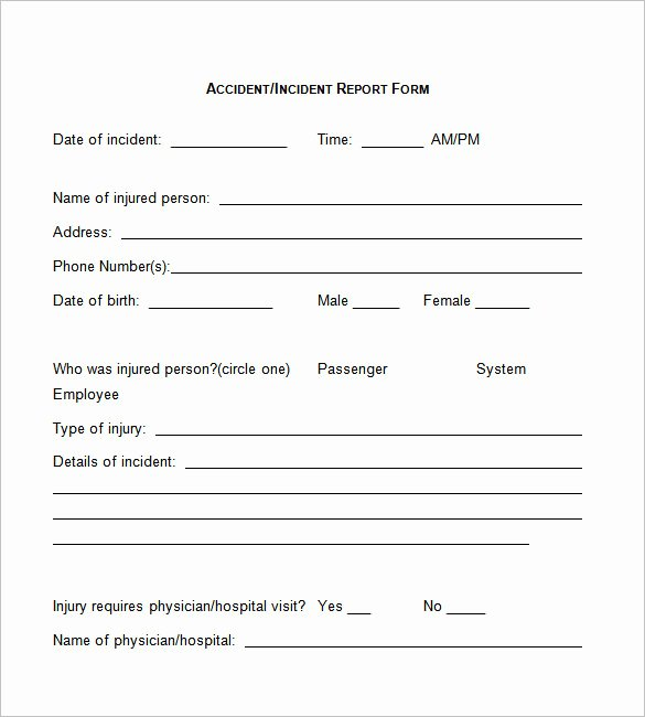 Employee Incident Report Template New 50 Incident Report Templates Pdf Docs Apple Pages