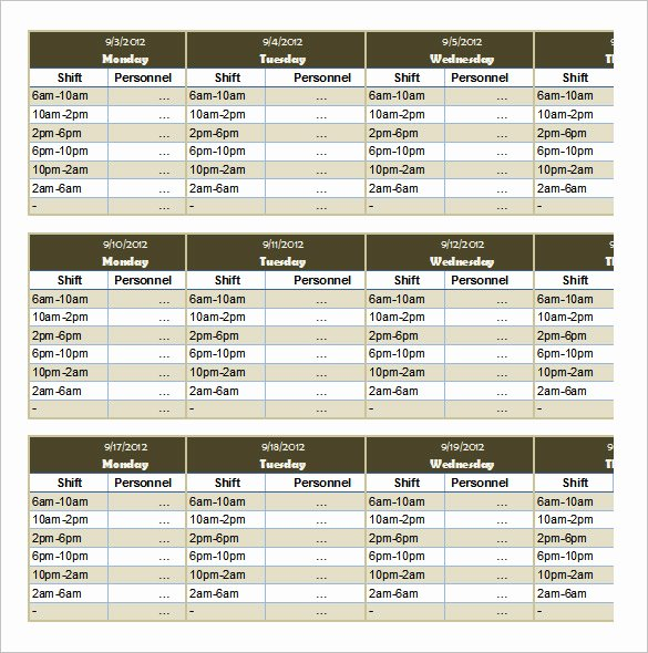 Employee Monthly Schedule Template Awesome 53 Sample Schedule Templates