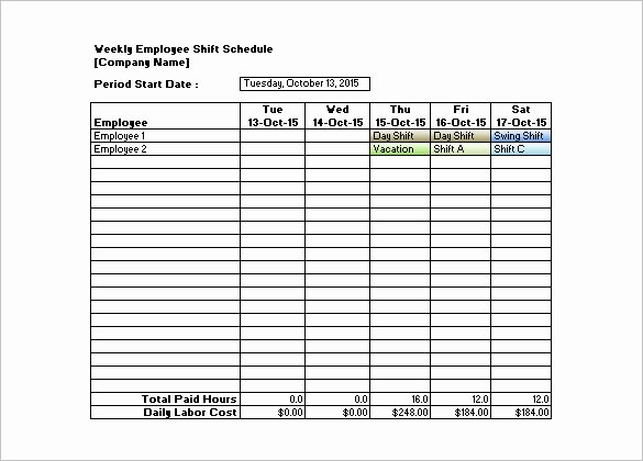 Employee Monthly Schedule Template Beautiful Monthly Employee Shift Schedule Template – Planner