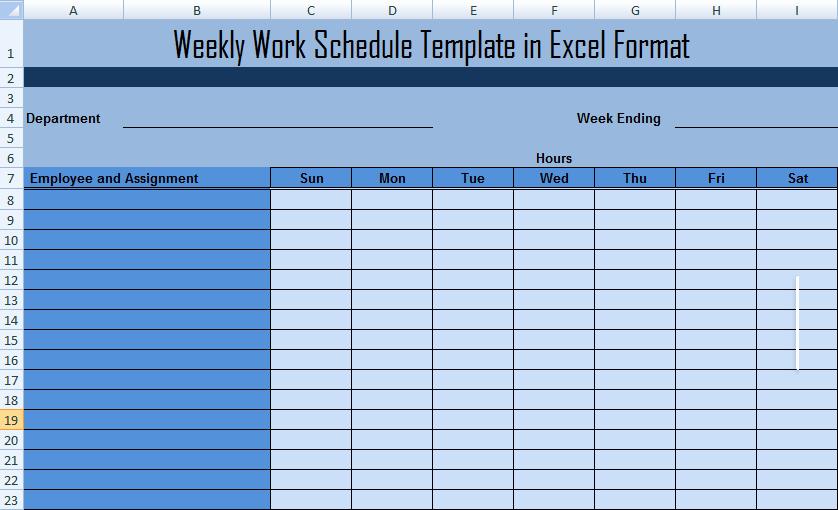 Employee Monthly Schedule Template Best Of Work Schedule Template