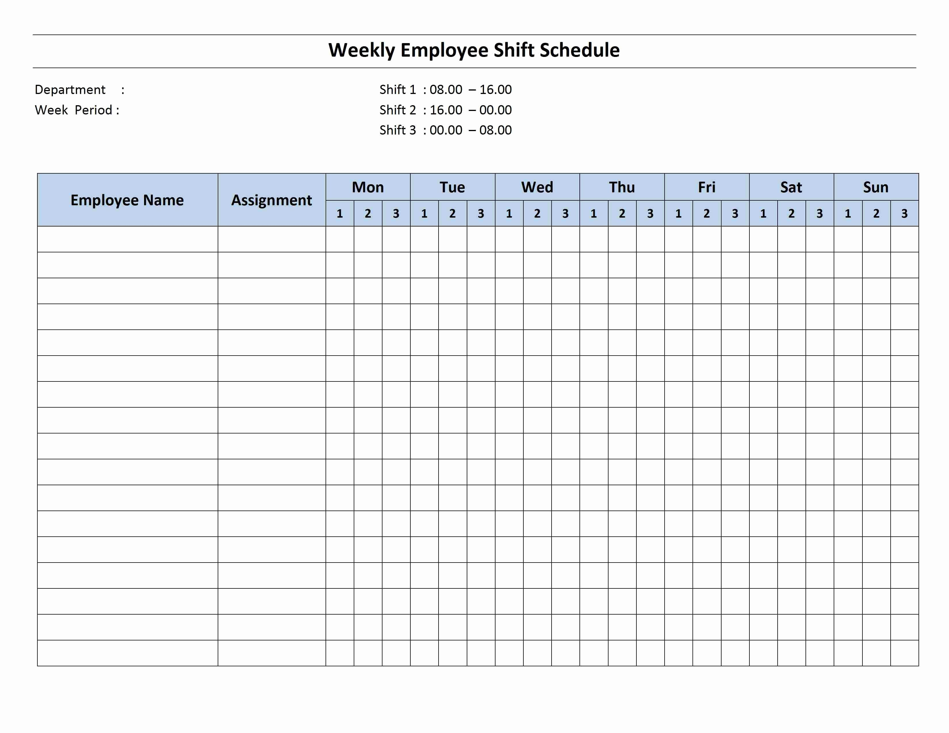 Employee Monthly Schedule Template Fresh Free Monthly Work Schedule Template