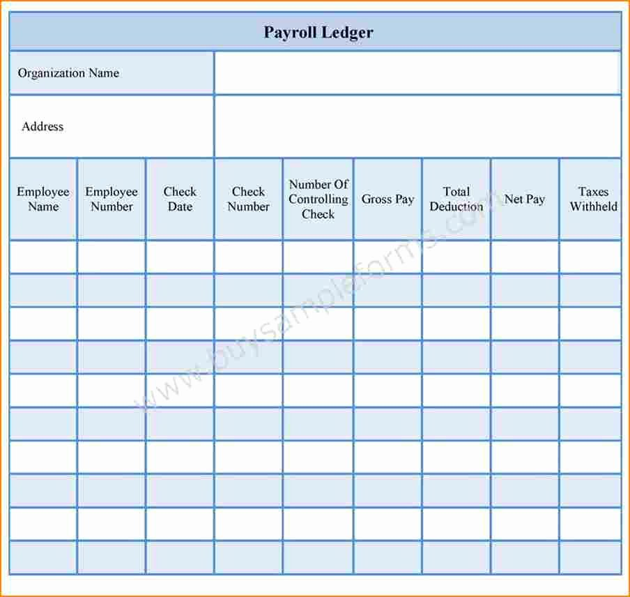 Employee Payroll Ledger Template Elegant 6 Blank Payroll forms
