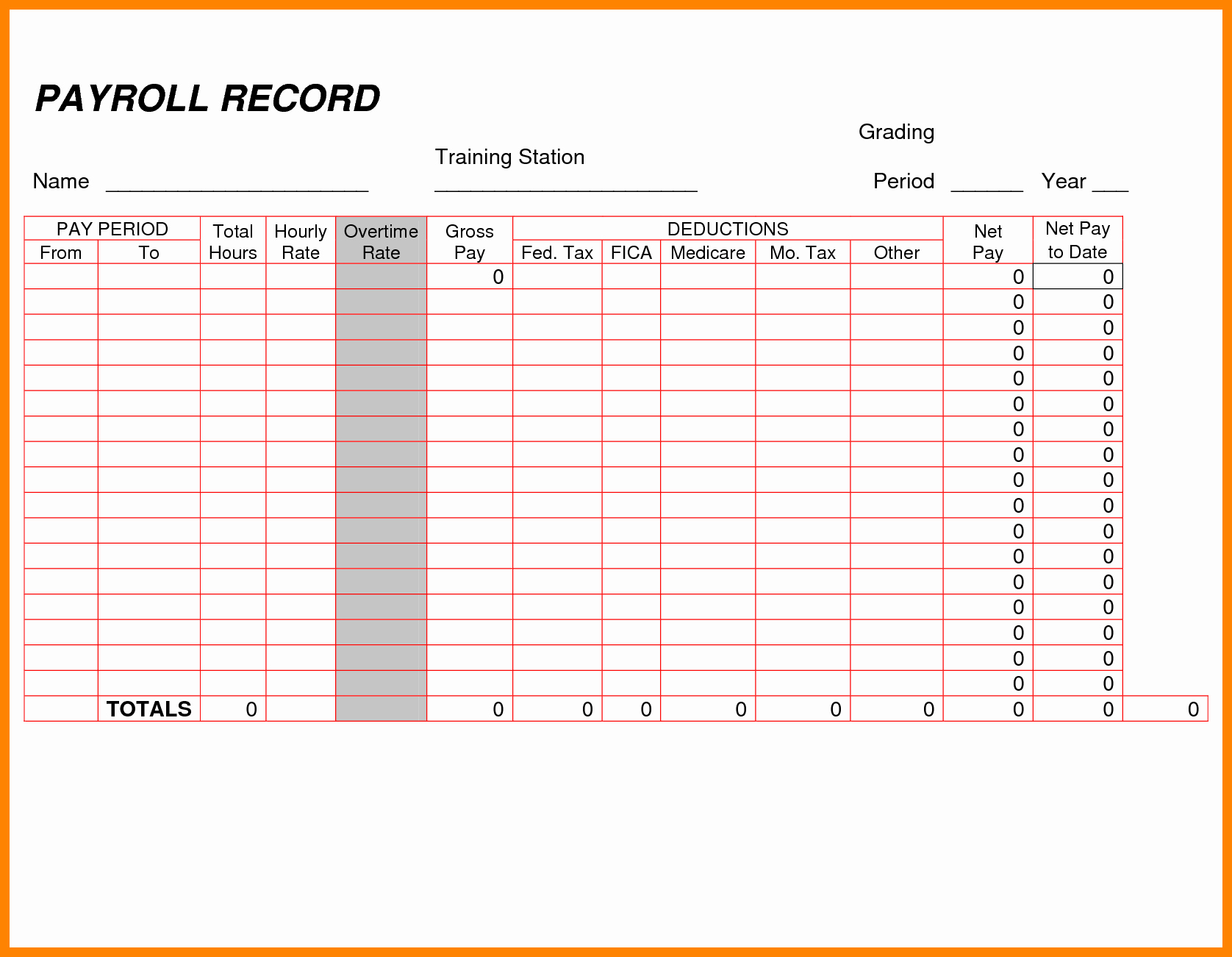 Employee Payroll Ledger Template Elegant 8 Payroll Ledger Template
