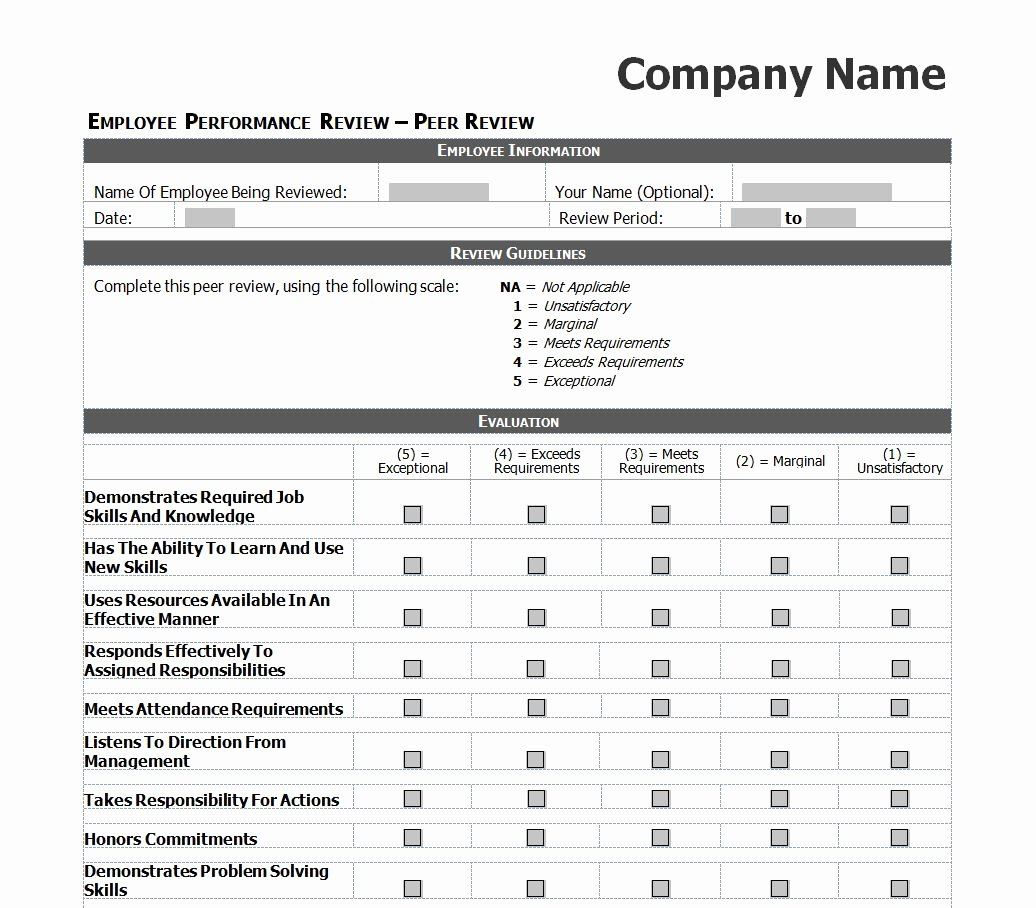 Employee Performance Review Template Beautiful Employee Performance Review Checklist