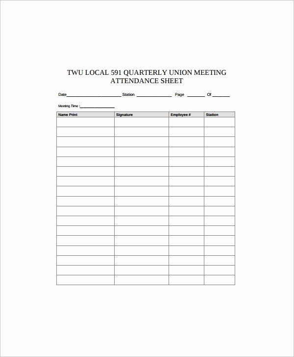 Employee Sign In Sheet Template Elegant Sample Employee Sign In Sheet 17 Free Documents