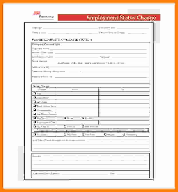 Employee Status Change form Template Unique 8 Adp Payroll forms