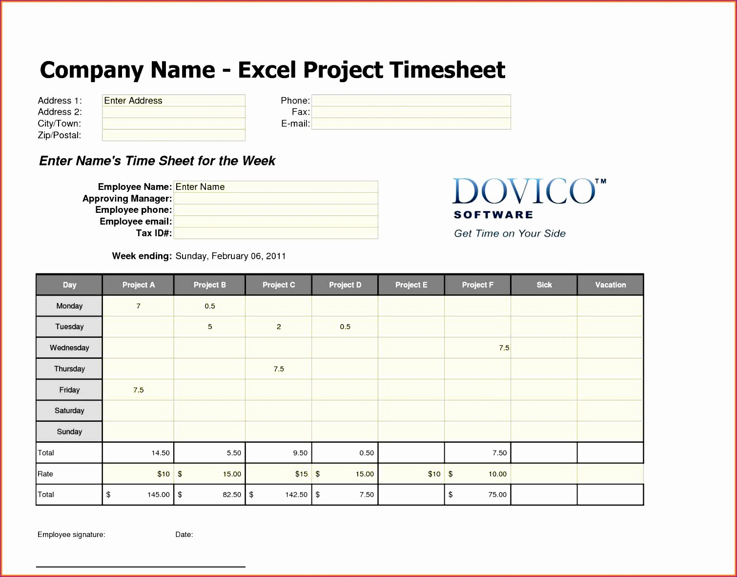 employee timesheet template excel spreadsheet b8378
