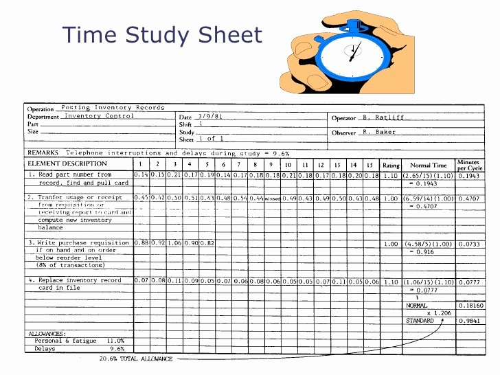 Employee Time Study Template Elegant Designpeoplesystem