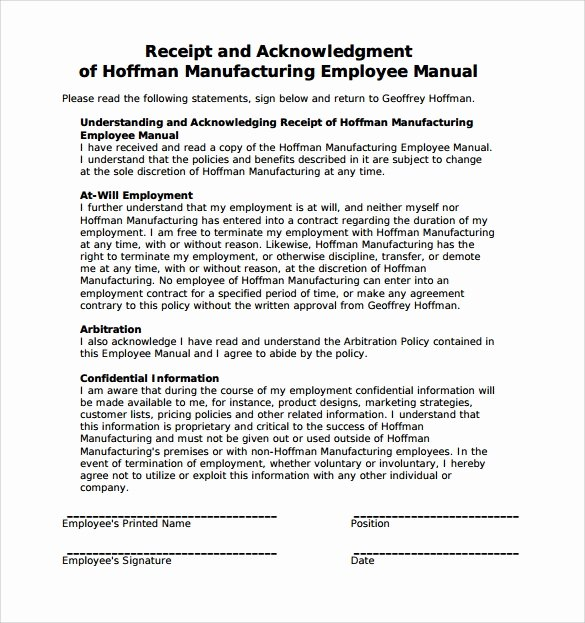 Employee Training Manual Template Beautiful Sample Employee Manual 8 Documents In Word Pdf