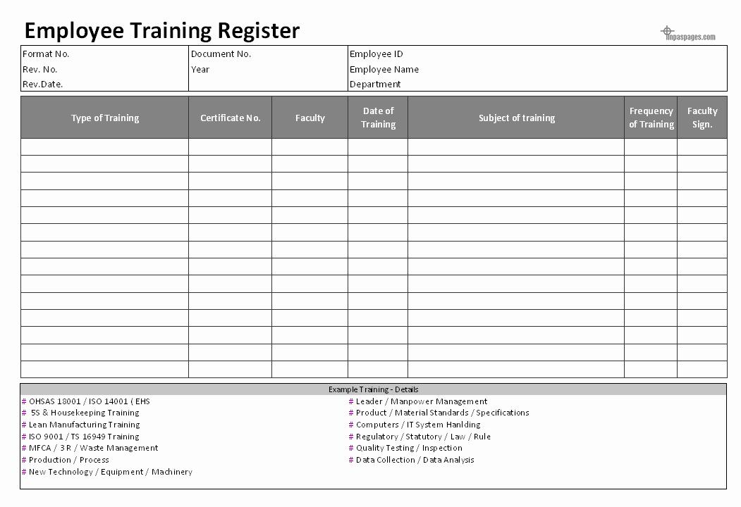 Employee Training Manual Template Elegant Employee Training Documentation – Hr formats