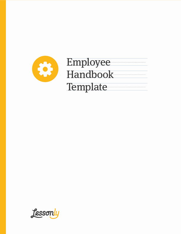 Employee Training Manual Template New Free Employee Handbook Template Lessonly