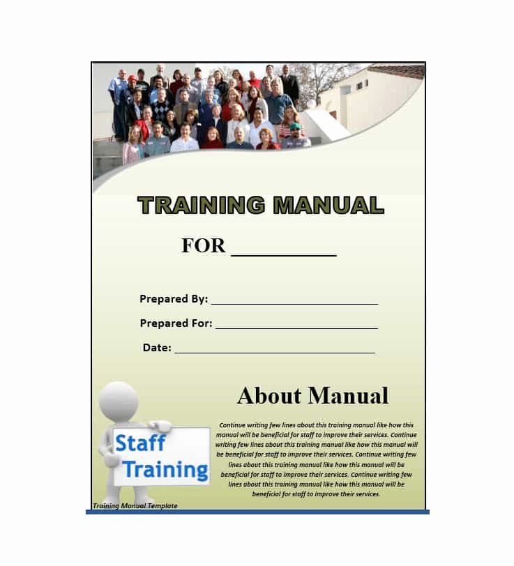 Employee Training Manual Template Unique Training Manual 40 Free Templates & Examples In Ms Word