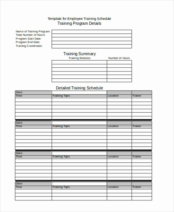 Employee Training Plan Template Inspirational 19 Agenda Templates In Excel