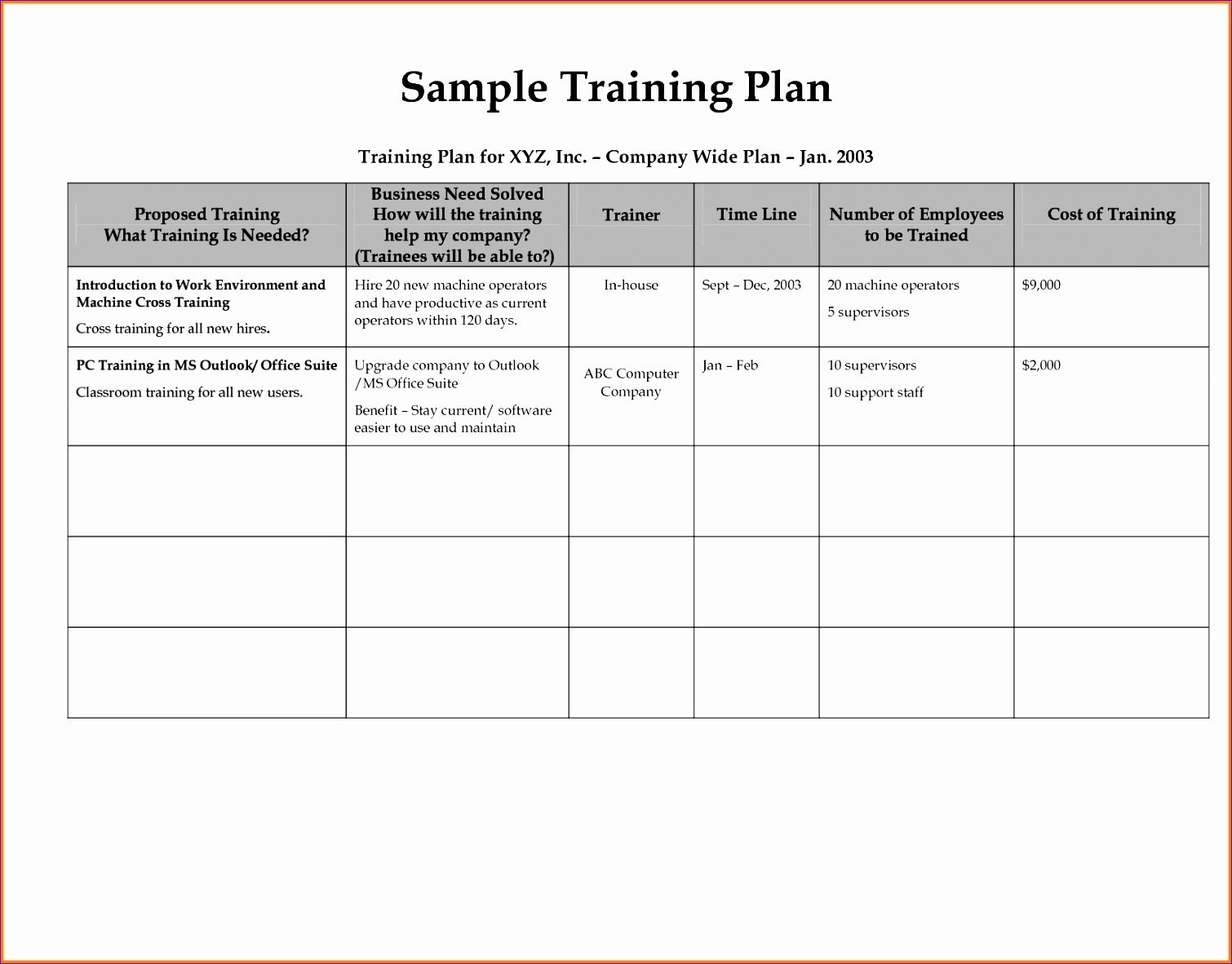 Employee Training Plan Template Unique 12 Financial Statement Template Excel Exceltemplates