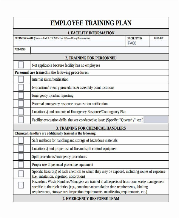 Employee Training Plan Template Unique 14 Training Plan Examples & Samples In Pdf