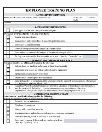 Employee Training Plan Template Unique 14 Training Plan Templates In Google Docs Word