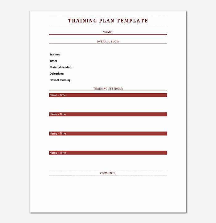 Employee Training Plan Template Word Awesome Training Plan Template 26 Free Plans & Schedules