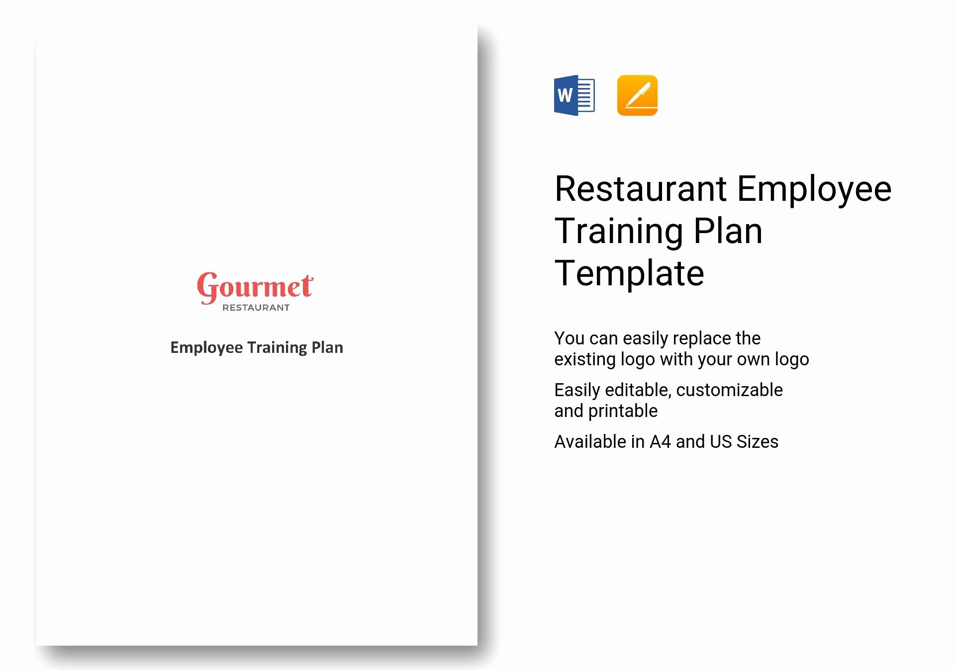 Employee Training Plan Template Word Beautiful Restaurant Employee Training Plan Template In Word Apple