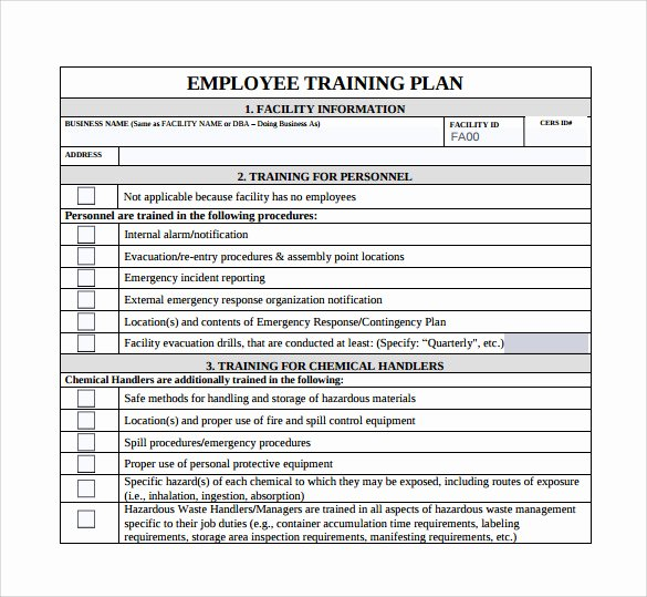 Employee Training Plan Template Word Inspirational 20 Sample Training Plan Templates In Google Docs