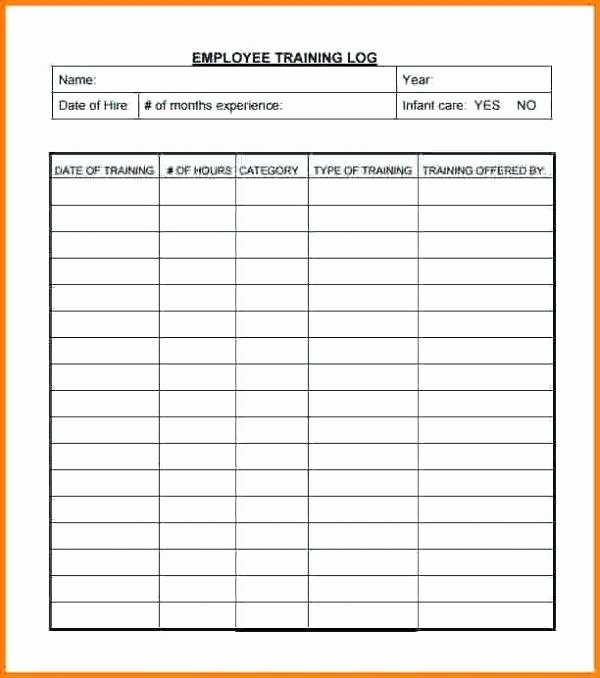 Employee Training Plan Template Word New Staff Training Record Template Free – Opfund