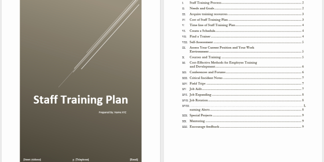 Employee Training Plan Template Word Unique Staff Training Plan Template – Word Templates for Free
