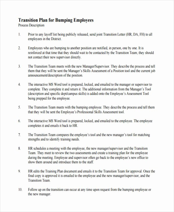 Employee Transition Plan Template Best Of Free 10 Transition Plan Examples & Samples In Pdf