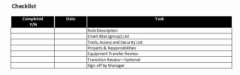 Employee Transition Plan Template Best Of Job or Role Transition Plan Template – Starters