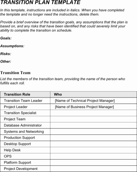Employee Transition Plan Template Inspirational Download Succession Planning Template for Free formtemplate