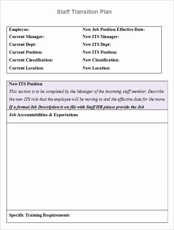 Employee Transition Plan Template Luxury Free 7 Transition Plan In Samples Examples format