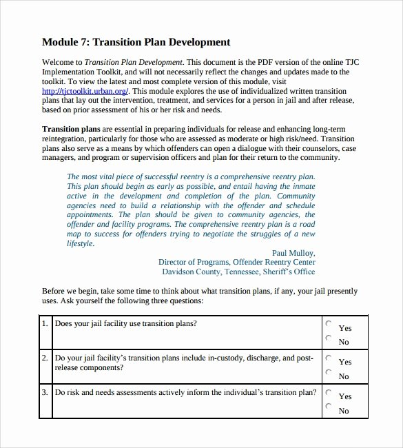 Employee Transition Plan Template Unique Transition Plan Template 9 Download Documents In Pdf