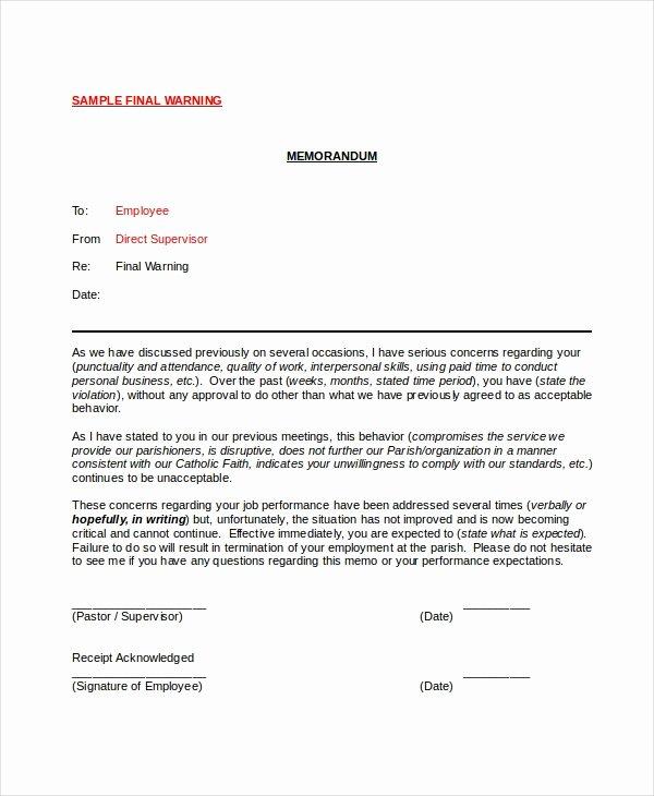 Employee Warning Notice Template Elegant 12 Printable Employee Warning Notice Templates Google